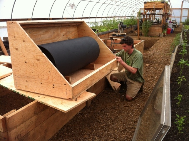 Ryan building our solar water tank heater